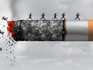 Смерть от курения с элементами 3D-иллюстрации