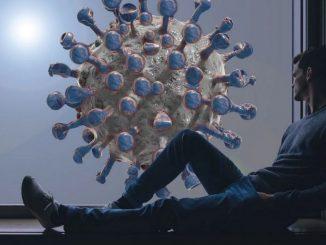Мужчина и вирус COVID-19